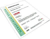 Certificate DIN EN ISO 14001