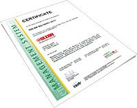 Certificate DIN EN ISO 50001